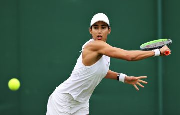 Astra Sharma in action at Wimbledon earlier this season. Picture: Getty Images