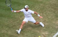 Jordan Thompson is enjoying a career-best run at Wimbledon. Picture: Getty Images