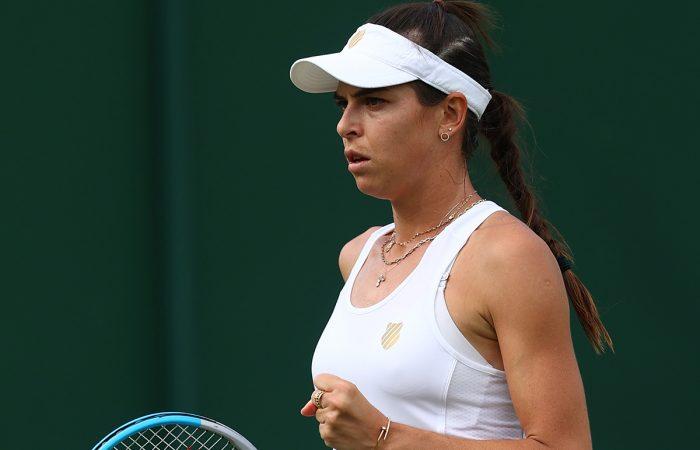 Ajla Tomljanovic at Wimbledon. Picture: Getty Images