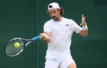 Jordan Thompson is through to the quarterfinals of the Hall of Fame Open in Newport; Getty Images