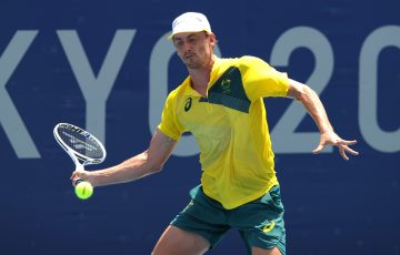 John Millman in action in Tokyo. Picture: Getty Images