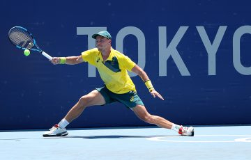 James Duckworth in action in Tokyo. Picture: Getty Images