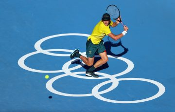 Max Purcell in action in Tokyo. Picture: Getty Images
