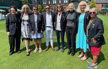 Original 9 members are inducted into the International Tennis Hall of Fame at Newport; photo supplied