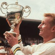 Rod Laver claimed a first Wimbledon singles title in 1961; Getty Images