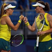Ellen Perez and Sam Stosur at the Tokyo Olympics; Getty Images