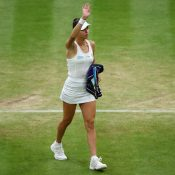 Ajla Tomljanovic advances to a first Grand Slam quarterfinal at Wimbledon; Getty Images