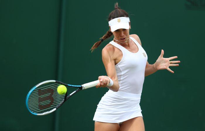 Ajla Tomljanovic at Wimbledon; Getty Images