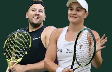 World No.1s Dylan Alcott and Ash Barty