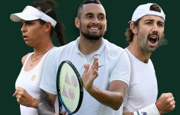 Ajla Tomljanovic, Nick Kyrgios and Jordan Thompson all feature in doubles matches on day five at Wimbledon.