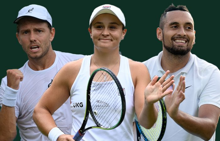 James Duckworth, Ash Barty and Nick Kyrgios lead the Australian charge on day six at Wimbledon.