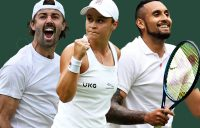 Jordan Thompson, Ash Barty and Nick Kyrgios lead the Aussie charge on day four at Wimbledon.