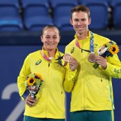Ash Barty and John Peers are the mixed doubles bronze medalists at Tokyo 2020; Getty Images