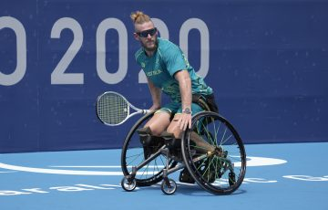 Ben Weekes at the Paralympic Games in Tokyo.