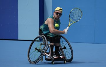 Dylan Alcott at the Paralympic Games in Tokyo.