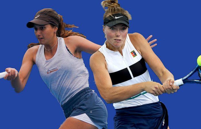 Jaimee Fourlis and Olivia Gadecki are on the rise. Pictures: Tennis Australia