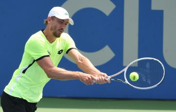 John Millman in action in Washington. Picture: Getty Images
