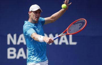 Luke Saville in action in Toronto. Picture: Getty Images