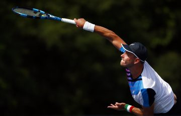 James Duckworth in action in Toronto. Picture: Getty Images