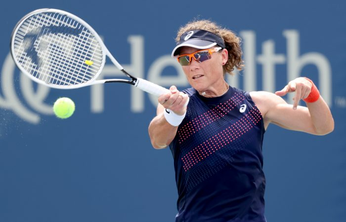 Sam Stosur in action at Cincinnati. Picture: Getty Images