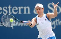 Ash Barty in action in Cincinnati. Picture: Getty Images