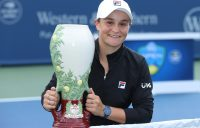 CHAMPION: Ash Barty with her Cincinnati trophy. Picture: Getty Images
