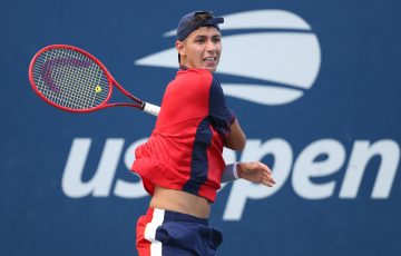 Alexei Popyrin in action at the US Open. Picture: Getty Images