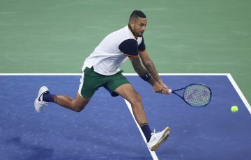 Nick Kyrgios in action at the US Open. Picture: Getty Images