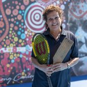 Evonne Goolagong Cawley launches the new Hitting Wall at Noosa Tennis Club.
