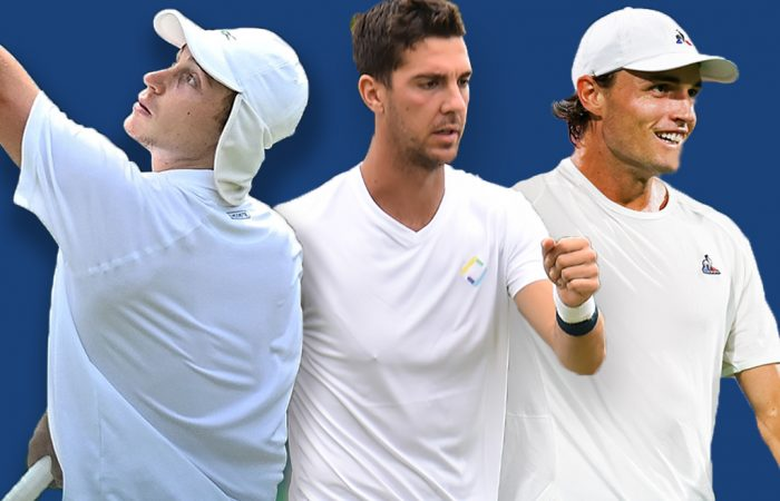 Marc Polmans, Thanasi Kokkinakis and Chris O'Connell lead the Australian charge in US Open men's singles qualifying. Pictures: Getty Images