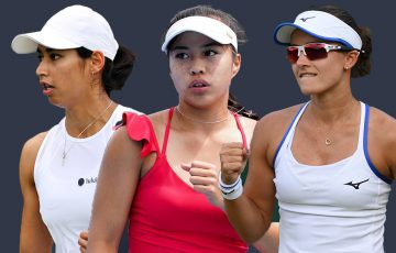 Australians Astra Sharma, Lizette Cabrera and Arina Rodionova are all hoping to qualify at the US Open.