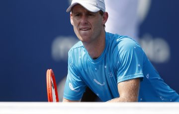 Australian doubles star Luke Saville ready to pounce at the net. Picture: Getty Images