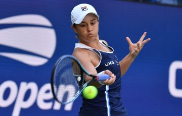 Ash Barty in action at the US Open. Picture: Getty Images