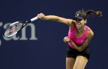 Ajla Tomljanovic in action at the US Open. Picture: Getty Images