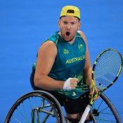 Dylan Alcott at the Tokyo Paralympics; Getty Images