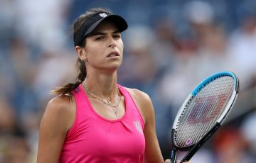 Ajla Tomljanovic during her third-round match at the US Open. Picture: Getty Images
