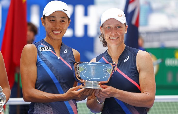 US Open 2021 champions Zhang Shuai and Sam Stosur. Picture: Getty Images