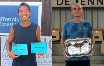 Australians Li Tu and Tristan Schoolkate with ITF titles. Pictures: Instagram