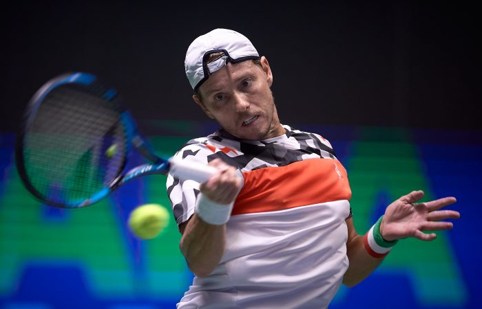 James Duckworth in action at Nur-Sultan. Picture: Astana Open