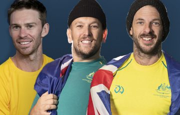 Australian hopes John Peers, Dylan Alcott and Heath Davidson. Pictures: Tennis Australia