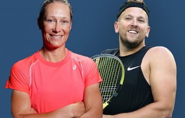 Australian hopes Sam Stosur and Dylan Alcott. Pictures: Tennis Australia