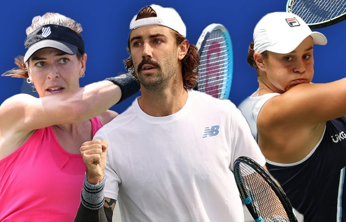 Ajla Tomljanovic, Jordan Thompson and Ash Barty lead the Australian charge at the US Open. Pictures: Getty Images