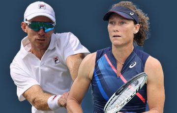 John Peers and Sam Stosur leading the Aussie charge on day eight at the US Open. Pictures: Getty Images