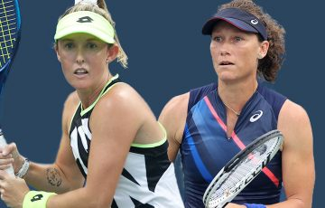 Storm Sanders and Sam Stosur will face-off in the US Open women's doubles quarterfinals. Pictures: Getty Images