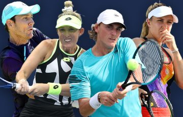 Matthew Ebden, Storm Sanders, Max Purcell and Ellen Perez are all enjoying career-best US Open doubles runs. Picture: Getty Images