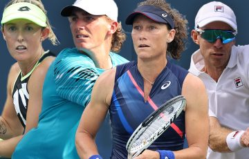 Storm Sanders, Max Purcell, Sam Stosur and John Peers have all improved their rankings after strong performances at the US Open. Pictures: Getty Images