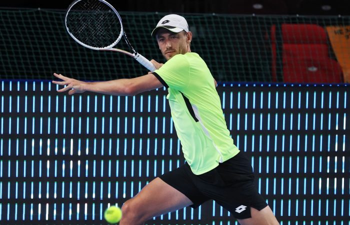John Millman in action at the Kremlin Cup. Picture: Getty Images