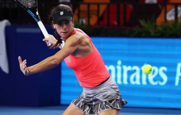 Ajla Tomljanovic in action. Picture: Getty Images