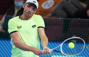 John Millman in Moscow. Picture: Getty Images