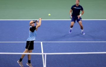 John Peers and Filip Polasek in action. Picture: Getty Images